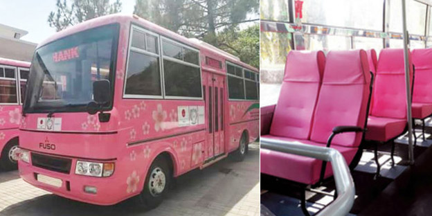 Astc To Come Up With Pink Buses For Female Hello Guwahati
